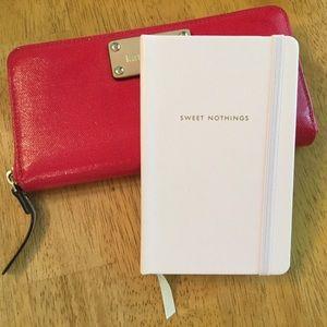 Kate Spade Pale Pink Sweet Nothings Notebook NWT